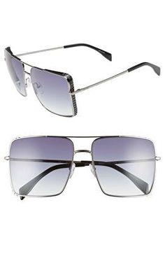 64d2033bbfc MOSCHINO Designer 50mm Square Flat Top Sunglasses Flat Top Sunglasses