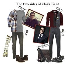 """""""The two sides of Clark Kent"""" by lulux3hdl ❤ liked on Polyvore featuring Topman, Old Navy, J.Lindeberg, Dockers, Zoo York, BCBGMAXAZRIA, Coach, Moleskine, Sony and Spy Optic"""