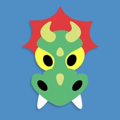 Free Dragon mask for St George's Day over here in the UK from www.masketeers.com