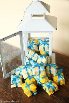 Casamento azul e amarelo, por Paulo Heredia - Tb uso em festas infantis!!