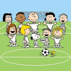 Marmont Hill Peanuts Soccer Peanuts Print on Canvas, Size: 24 inch x 24 inch, Multicolor