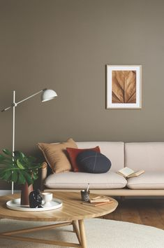 Wall Painting Living Room, Accent Walls In Living Room, Living Room Modern, Living Room Interior, Living Room Decor, Brown Living Room Paint, Paintings For Living Room, House Paint Interior, Brown Paint