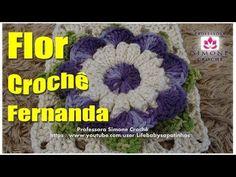 Passo a passo Flor Fernanda em Crochê - Professora Simone - YouTube