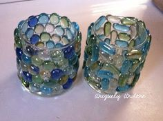 DIY - Glass stone candle jar