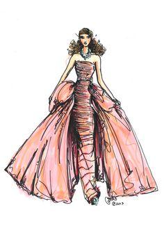 Fashion Illustration by Cait Courneya