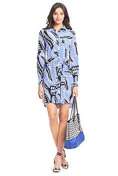 DVF Prita Silk Shirt Dress