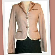 """Marc Jacobs tuxedo jacket Beautiful mauve tuxedo style jacket by Marc Jacobs.  Trimmed in satin around the edges.  Pockets are still sewn closed.  Button cuffs.  52% cotton 45% wool 3% other fiber  Runs narrow in the shoulders Bust 34"""" Waist 30"""" Shoulder to Shoulder 14"""" Sleeves 24 1/2"""" Length 20 1/2"""" Marc Jacobs Jackets & Coats Blazers"""