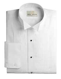 97d5f051 Men's Tuxedo Shirt Poly/Cotton Wing Collar 1/4 inch Pleat -- To