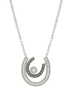 542db1a3b Vintage Charm Cherished Treasure Necklace - Silver, Silver Horseshoe Set,  Western Store, Large