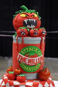 Attack of the killer Tomatoes Cake