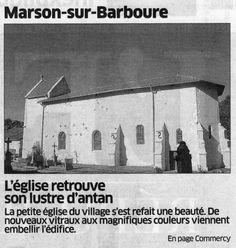 Vitraux Eglise de Marson sur Barboure