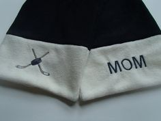 Hockey Mom Fleece Scarf by crystalthreads on Etsy.  This scarf is for the ultimate hockey mom!