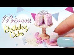 Simple Princess Birthday Cake Tutorial // Miniature Food DIY - YouTube