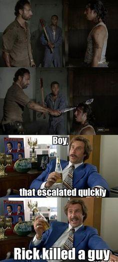 Rick killed a guy.