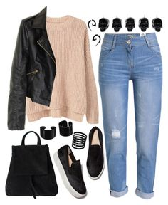 """1226."" by asoul4 ❤ liked on Polyvore featuring MANGO, WithChic, D.L. & Co. and H&M"