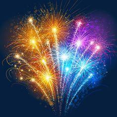Linda flor de festa de ano novo fogos de artifício multicolor, Fogos De Ano Novo, Fogos De Artifício, Comunidades De Fogos De ArtifícioImagem PNG