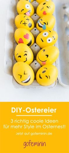 Easter basket with a difference: 3 extremely cool ideas for stylish DIY .- Osternest mal anders: 3 extrem coole Ideen für stylische DIY-Ostereier Against boredom in the Easter basket: 3 extremely cool ideas for stylish DIY Easter eggs - Diy 2019, Diy Hanging Shelves, Diy Ostern, Easter Crafts For Kids, Egg Decorating, Easter Baskets, Happy Easter, Easter Eggs, Christmas Diy