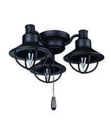 Kichler industrial 3 light ceiling fan light kit reviews turn of the century bronze dual function nautical ceiling fan light kit mozeypictures Image collections
