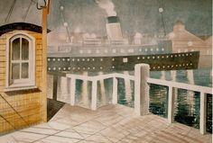 Eric Ravillious Watercolor Landscape, Watercolour, Pergola, Art Gallery, Gypsy Living, Colours, Steamer, Painters, Surrealism