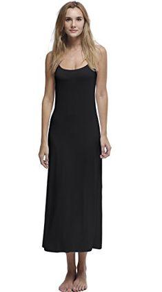 3cff23a81ef31 Papicutew Women s Long Full Cami Slip Dress Sleeveless Nightgowns