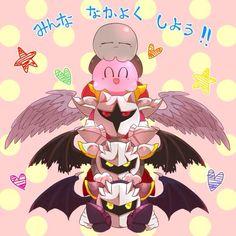 Meta Knight, Dark Meta Knight, Galacta Knight, Kirby, and Shadow Kirby