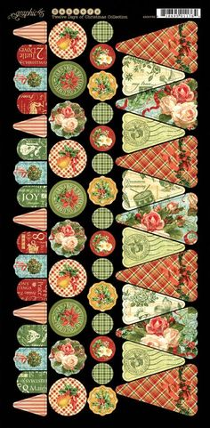 Graphic 45 Tweleve Days of Christmas Cardstock embellishment sneak peek CHA Summer 2013 banners TAGS
