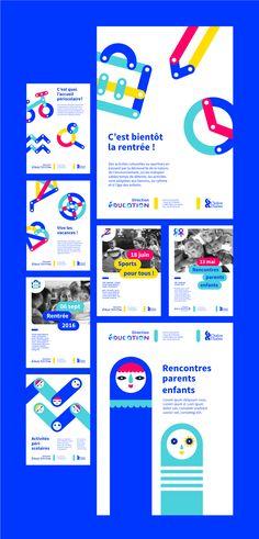 Identité Visuelle pour la Direction de l'éducation de la ville de Chalon-Sur-Saone par Grapheine