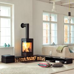 Stufa a legna Skantherm mod. Elements – Design Alpino