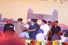 Punjab values its brave soldiers who have lived up to the honour of the martial spirit inherited from our great Sikh Gurus. It is their valor that has given Punjab the epitaph of being nation's sword arm. On the special occasion of inauguration of Punjab State War Heroes Memorial & Museum, CM Parkash Singh Badal felicitated 15 dignitaries with a shawl and a momento of sword. #progressivepunjab #akalidal #punjab #brave #soldiers