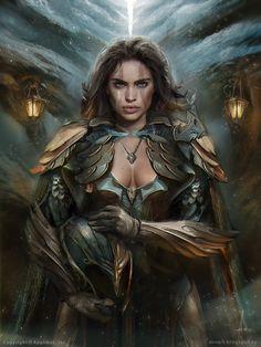 """""""Silver Centurion Leona"""" by Aleksei Vinogradov (VinogradovAlex)   #Fantasy #DangerousWomen"""