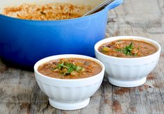 Lentil and Black Bean Soup with Italian Sausage | The Floating Kitchen