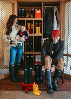 Hunter Boots borrowing closet // Weekapaug Inn