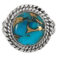 Sterling Silver Ring Matrix Turquoise R2290-C84
