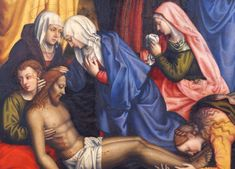"""""""Lamentation with Saints,"""" by Plautilla Nelli (public domain) The Sidney and Lois Eskenazi Museum of Art of Indiana University (IU) in Bloomington, Indiana recently received an estate g… Women Artist, Saint Dominic, Giorgio Vasari, Indianapolis Museum, Female Painters, National Museum, Historian, Art Museum, Art History"""