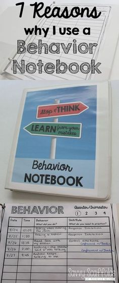 A behavior notebook is a whole-class management technique for recording classroom misbehavior that integrates student reflection & ownership. It can quickly be implemented with any existing rules and discipline plan, and is used as an alternative to other methods such as a clip chart, card system, or writing names on the board. Each student …