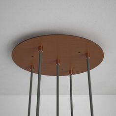 Round Satin Copper XXL Ceiling Rose with 7 holes + Accessories Copper Ceiling, Black Ceiling, Ceiling Rose, Wall Plug, Wall Hooks, Cage, Natural Charcoal, Ceiling Canopy, Copper Metal