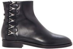 Alaia Buckle-Detailed Leather Ankle Boots