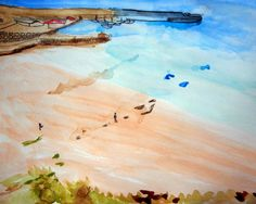 There Are Some People On The Beach. Can You See Them? | Alma Schouman's blog