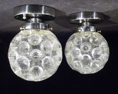 Mod cratered glass fixtures.
