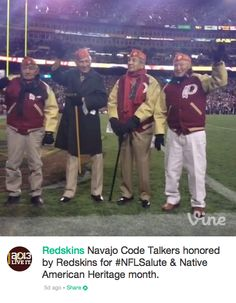 Yay: Navajo Codetalkers Appear In Redskins Jackets — Liberal Heads Explode