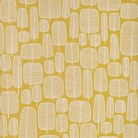 Miss Print behang kleine bomen geel