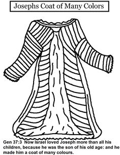 Josephs Coat Of Many Colors Color By Number Coloring Pages Are A