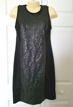 2bd30ab409 OLD NAVY DRESS Size MEDIUM M Sequined Ponte Knit Dress Black Sleeveless   fashion  clothing  shoes  accessories  womensclothing  dresses (ebay link)