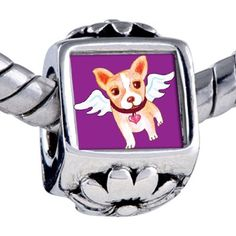 Pandora Style Bead Chihuahua Dog Heaven Beads Fits Pandora Bracelet Pugster. $12.49. Bead Size (mm): 7.46mm*8.09mm*12.09mm. Metal: base metal. Weight (gram): 3.75. Note: Snake chain is not included
