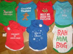 Cozy Up Blog: Spotted: Holiday & Christmas Dog T-Shirts in Target's Dollar Section