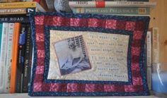 Sylvia Plath mini art quilt