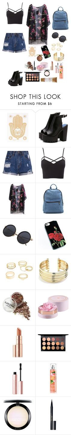 """Summer Festival"" by siberia-ice ❤ liked on Polyvore featuring Charlotte Russe, Belk Silverworks, Lancôme, Estée Lauder, MAC Cosmetics, Too Faced Cosmetics, Physicians Formula, Stila, Murad and plus size clothing"