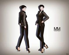 Diosaharu Adamski: M&M   Outfit: LADIES JACKET BLACK AND LEGGINSMode...