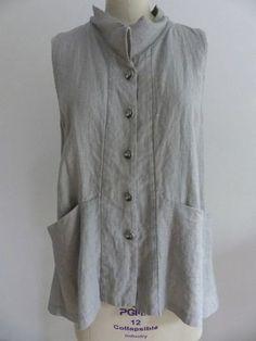 Marcy Tilton - Marcy T Pop-Up Shop - 7108 Gray Washed Linen Vest