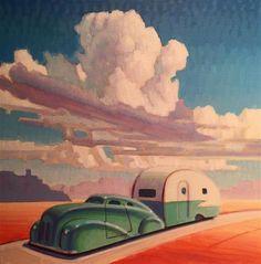 "Daily Paintworks - ""Sun Searcher"" - Original Fine Art for Sale - © Robert LaDuke Art Deco Artwork, Art Deco Posters, Vintage Posters, Vintage Art, Vintage Travel, Art Deco Illustration, Illustrations, Nostalgic Art, Art Nouveau"